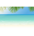 sandy beach with crystal clear sea and palm tree vector image vector image