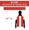 scarf - template mockup vector image