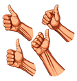 set four hands vector image vector image