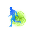 silhouette of a runner vector image