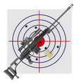 sniper rifle cartridges target vector image