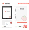 tomato business logo tab app diary pvc employee vector image vector image