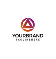 triangle circle logo design concept template vector image