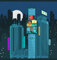 urban landscape at night vector image vector image