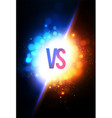 versus vs sign on power light blue and gold vector image