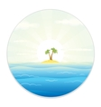 view the tropic island from field glass vector image