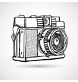 Vintage doodle camera hand-drawn vector image vector image
