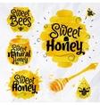 Watercolors symbols honey vector image
