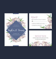 wedding card flower watercolor thanks card vector image vector image