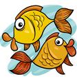 zodiac pisces or fish cartoon vector image vector image