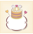 Cute cupcake design frame vector image