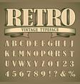 bold vintage font vector image