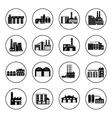 Set of industry manufactory building icons Plant vector image