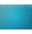 blue background with bubbles vector image