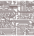 seamless circuit board pattern vector image