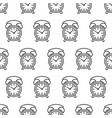 seamless pattern from clock alarm icon black vector image