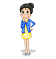 A businesswoman thinking vector image