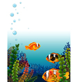 A fishworld vector image vector image