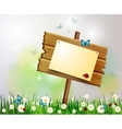 advertisement wooden board on a loan vector image vector image