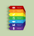 arrows infographic colors of rainbow business vector image vector image