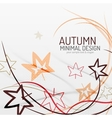 Autumn floral minimal background vector image vector image