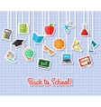 Back to school and education flat icons with
