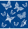 Background of abstract butterflies flying vector image vector image