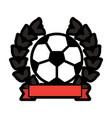 ball football soccer emblem image vector image vector image