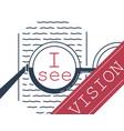 banner vision correction glasses vector image