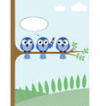 BIRD TREE PHONE vector image vector image