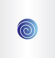 Blue circle spiral globe icon logo symbol