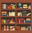 books in library bookcase encyclopedia book at vector image
