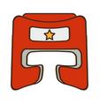 Boxer helmet equipment icon vector image
