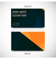 Business card with space for text vector image