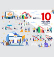businesspeople life flat concepts set vector image vector image
