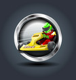 carting steely rounded badge icon for uigame vector image