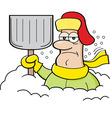 Cartoon man buried in snow vector image vector image