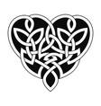 celtic heart ornament vector image vector image