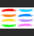 colorful brushstrokes set isolated on white vector image