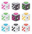 colorful icons fidget cubes vector image vector image