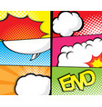 comic book pop art speech bubble page template vector image vector image
