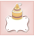 Cute cupcake frame vector image vector image