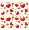 Cute seamless pattern Valentines day with heart vector image vector image