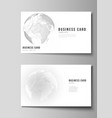 editable layout of two creative business vector image