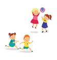 flat kids activity in kindergarten set vector image