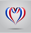 french flag heart-shaped ribbon vector image