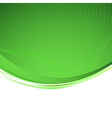 Green background unusual bright swoosh vector image vector image