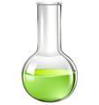 Green liquid in glass beaker vector image vector image