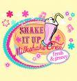 groovy milkshake vector image