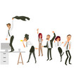 happy people have fun dance at corporate party vector image vector image